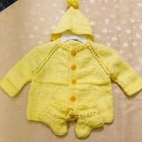 3 Pieces handmade crochet for baby