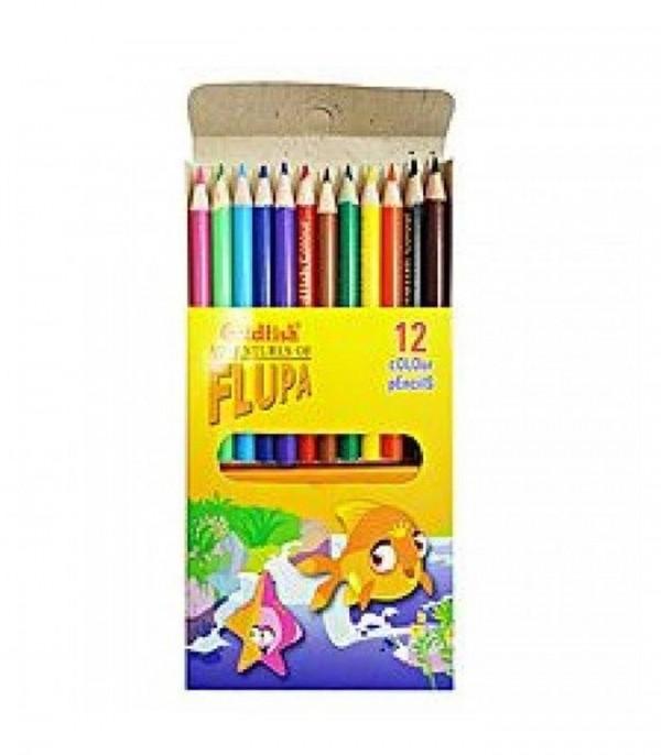 Goldfish Flupa Adventures 12 Color Pencils - Multi Color