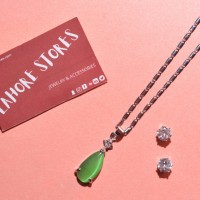 Necklace Set-Green Pearl
