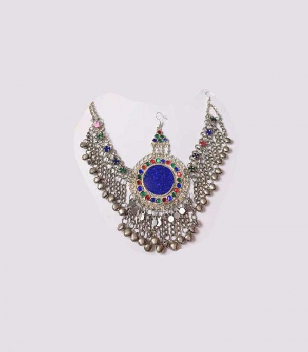 Afghani Matha Patti-blue