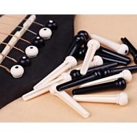 1 set Guitar Bridge Pins 6Pcs ABS Plastic Endpin