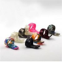 4 Pcs/Set Plastic Guitar Picks Rings 1-T Pick+3 Finger Nail Guitar Picks Plectrums Set