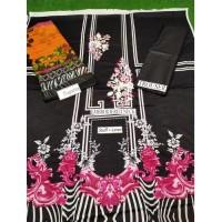 Black Color Unstitch Suit 3 piece