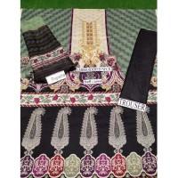Black & Green Color Unstitch Suit 3 piece