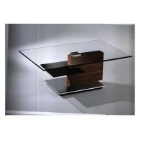 Stylish Wooden Glass Top Tea Table