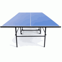 Table Tennis Foldable Blue with 4 wheels