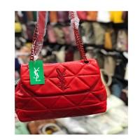 Bridal Red Ladies Chain Bag