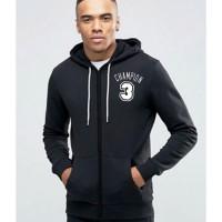Champion 3 Black Hoodie for Mens - Winter Season Collection For Mens