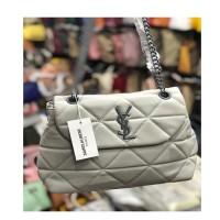 Gray White Ladies Chain Bag