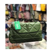 New Arrival Pickle Green Ladies Chain Bag