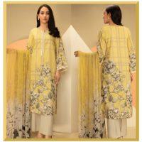 Original Khaadi 3 Pieces Suit With Lawn Dupatta