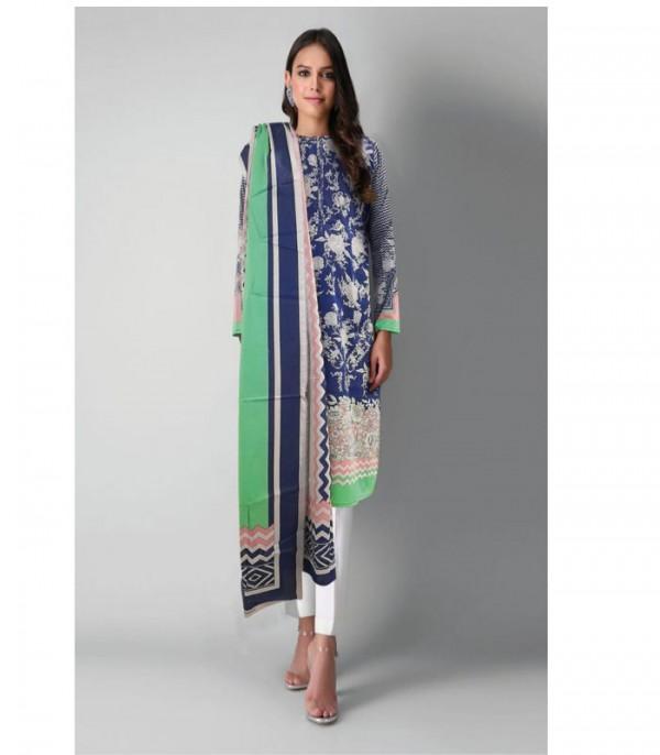 Khaadi 3 Pieces Suit with Lawn Dupatta