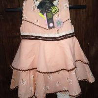 Baby Pink Frock with Printed Trouser