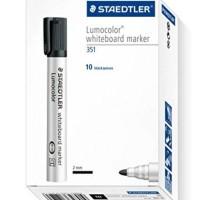 Staedtler White Board Marker With Dry Safe Ink 351 Black 10Pcs/Box