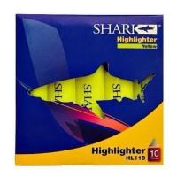 SHARK Highlighter Pack Of 10 HL-119 - Yellow