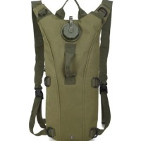 Bottle Hydration Backpack Pouch Green