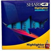 SHARK Highlighter Pack Of 10 HL-119 - Blue