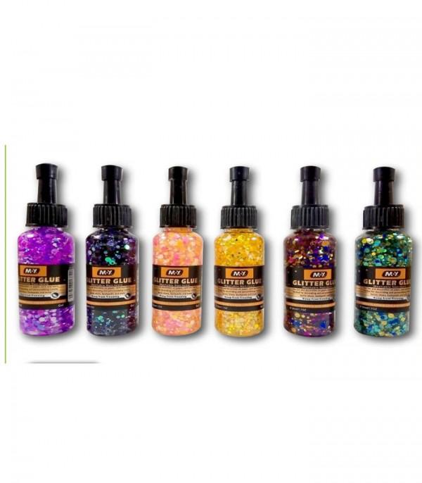 Moy Glitter Glue Multicolor Pack Of 6pcs 50ML