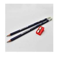 Pelikan HB Pencil With Eraser & 1 Free Pencil Sharpener 12 Pieces/Box