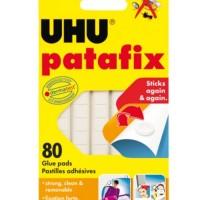 UHU Patafix Glue Pads 80Stick/Pack - White & Yellow