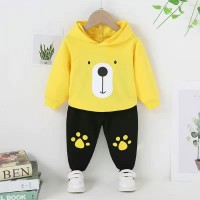 Yellow Terry Bear Shirt with Black Trouser